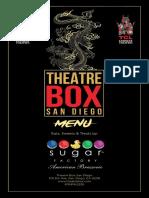 Theatre Box San Diego_Theatre Menu