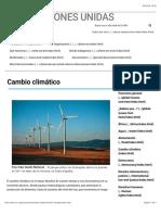 _Cambio climático | Naciones Unidas