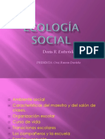 Ecología Social