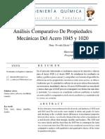 Análisis Comparativo 1020 vs 1045