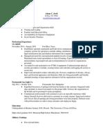 resume for rws
