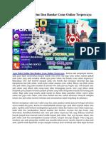 Agen Poker Online Dan Bandar Ceme Online Terpercaya