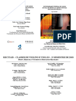 Programa - Recital - Violão e Violino - 12-12-2018