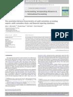 Advances in Accounting Volume 30 Issue 2 2014 [Doi 10.1016%2Fj.adiac.2014.09.001] Abernathy, John L.; Beyer, Brooke; Masli, Adi; Stefaniak, Chad -- The Association Between Characteristics of Audit Com