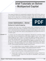 Brief Tutorials on Solver and Evolver - Multiperiod Capital Budgeting