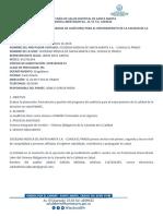 Informe de Pamec Clinica Del Prado