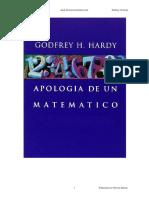 Apologia de un matematico - Godfrey H Hardy.pdf