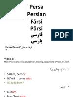 Verbos persa
