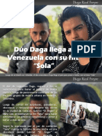 "Diego Ricol Freyre - Dúo Daga llega a Venezuela con su hit  ""Sola"""