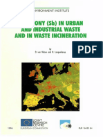 Antimony Sb in Urban and Industrial Waste and in Waste Incineration