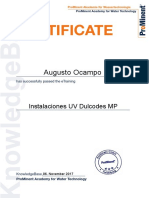 15 Instalaciones UV Dulcodes MP