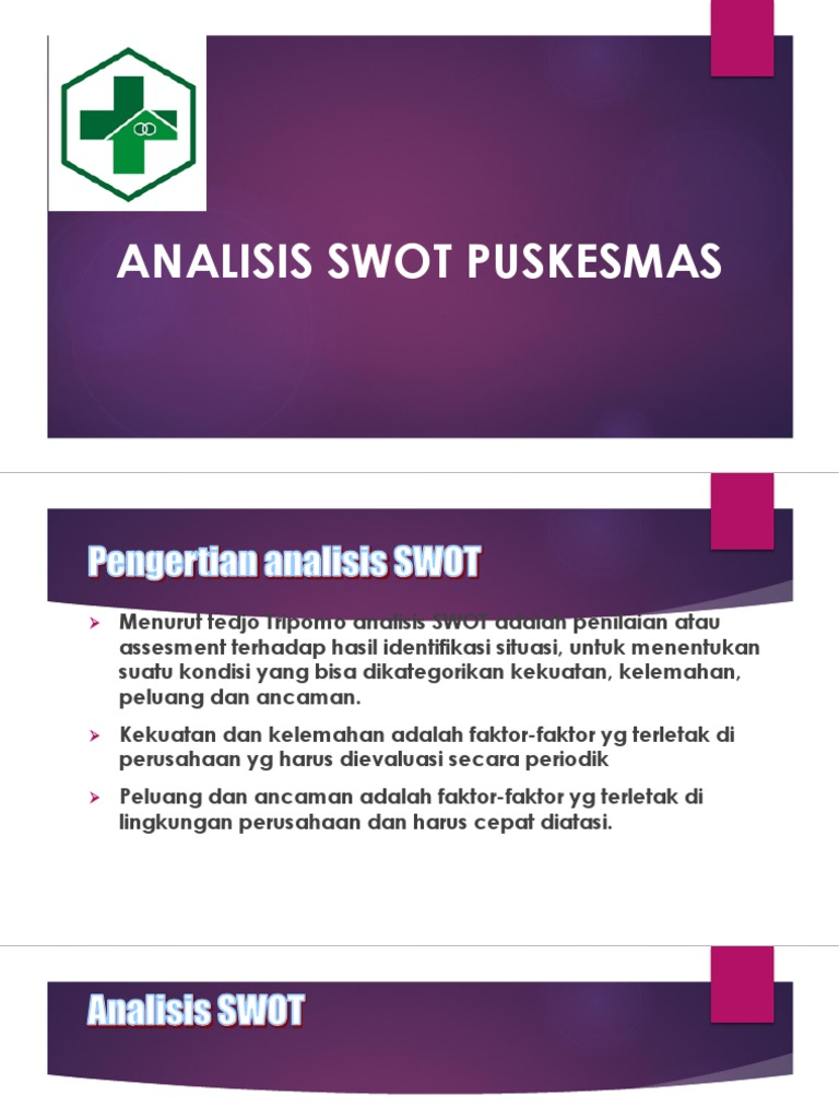 Analisis Swot Puskesmas Ba 5