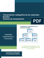 Interpretación Radiográfica de Los Materiales Dentales