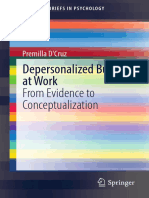 Depersonalized Bullying at Work From Evidence to Conceptualization
