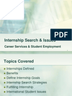 Internship Search & Tips
