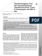 Advanced Technologies for Imaging and Visualization of the Tracheobronchial Tree From Computed Tomography and MRI to Virtual Endoscopy