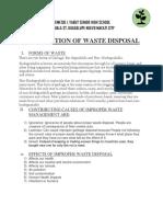NEMESIO I. YABUT SENIOR HIGH SCHOOL ESCUALA ST. GUADALUPE NUEVO MAKATI CITY - Segregation of Waste