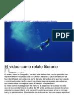 El video como relato literario