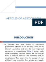 172798238 Articles of Association PRESENTATION Ppt
