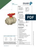 2W Ball Valve M1 PP PVDF Manual New