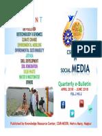 Csir-neeri in Social Media April to June 2018