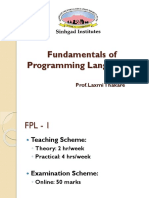 Fundamental of programming language