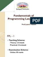 Fundamental of programming language