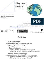 1.5 Degrees Climate Goal & Degrowth