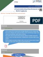 Respiratory and Gastrointestinal Involvement in Birth Asphyxia