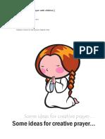 Creative Prayer Ideas Bristol Diocese