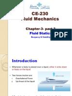 Chapter 3 Part 3 Fluid Statics Buoyancy