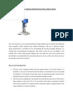 Field Test Geoteknik