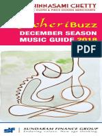 KutcheriBuzz December Season Music Guide 2018