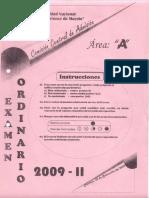 examen de admision UNASAM 2009 HUARAZ-ANCASH