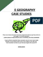 Geography IGCSE Case Studies