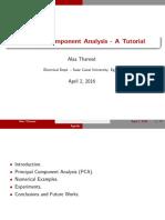 Principal Component Analysis - A Tutorial