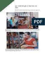 Xe Bánh Mì Ngon Nhất Thế Giới ở Sài Gòn Chỉ Bán Một Loại Nhân
