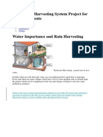 Rain Water Harvesting System Project for Class 5 Students