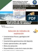 Clase 03a Selección de Metodos de Explotacion en Mineria