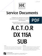 Hk Actor Dx115a Sub Service Manual Hk1104