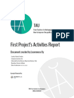 TAU First Project Activities Report by Learnmera Finland
