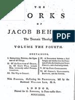 Jacob Böhme Vol 4 - I - Signatura Rerum