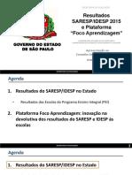 Apresentação Foco Aprendizagem SARESP IDESP