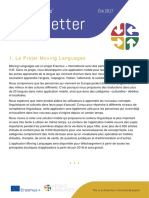 Moving Languages Newsletter Summer 2017 French