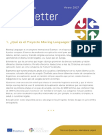 Moving Languages Newsletter Summer 2017 Spanish