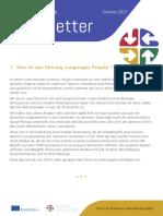 Moving Languages Newsletter Summer 2017 German