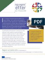 Moving Language Newsletter Winter-Spring 2018 ITALIAN