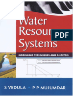 Water Resources Systems - S Vedula and P P Mujumdar