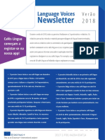 Language Voices Newsletter Summer 2018 Portuguese