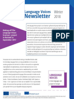 Language Voices Newsletter Winter 2018 DUTCH